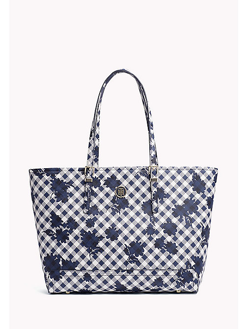 TOMMY HILFIGER Gingham Tote Bag - GINGHAM - TOMMY HILFIGER VACATION FOR HER - main image