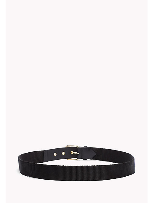 TOMMY HILFIGER Leather Belt - BLACK - TOMMY HILFIGER Bags & Accessories - detail image 1