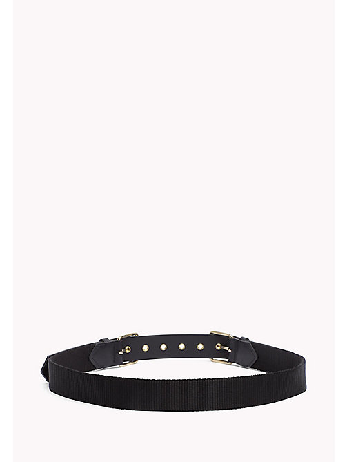 TOMMY HILFIGER Leather Double Buckle Belt - BLACK - TOMMY HILFIGER Women - detail image 1