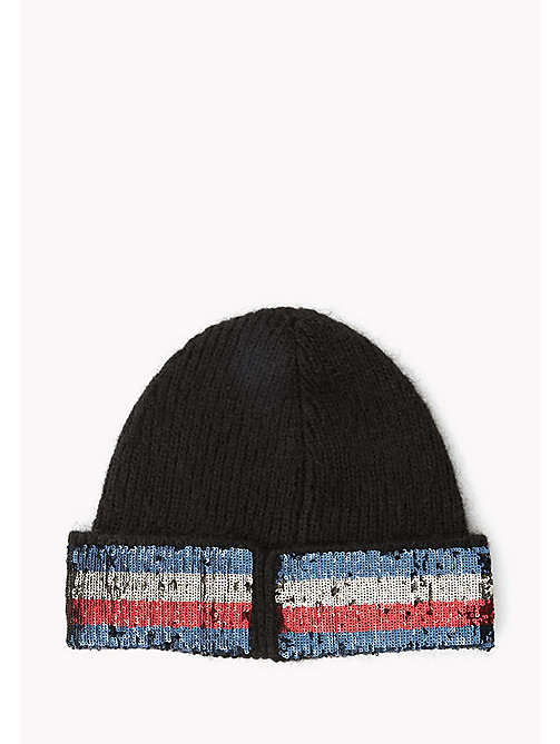 TOMMY HILFIGER Mohair Blend Sequin Beanie - BLACK - TOMMY HILFIGER Bags & Accessories - detail image 1