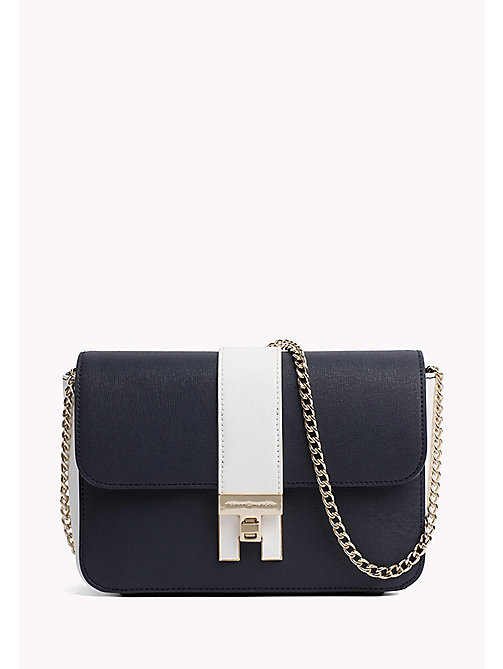 TOMMY HILFIGER Small Crossover Handbag - TOMMY NAVY/ BRIGHT WHITE - TOMMY HILFIGER The Office Edit - main image
