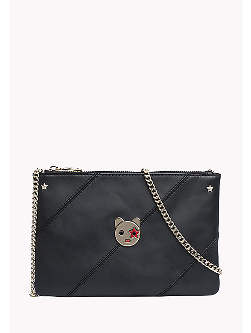 TOMMY HILFIGER Leather Mascot Pouch Bag - BLACK - TOMMY HILFIGER Bags & Accessories - main image