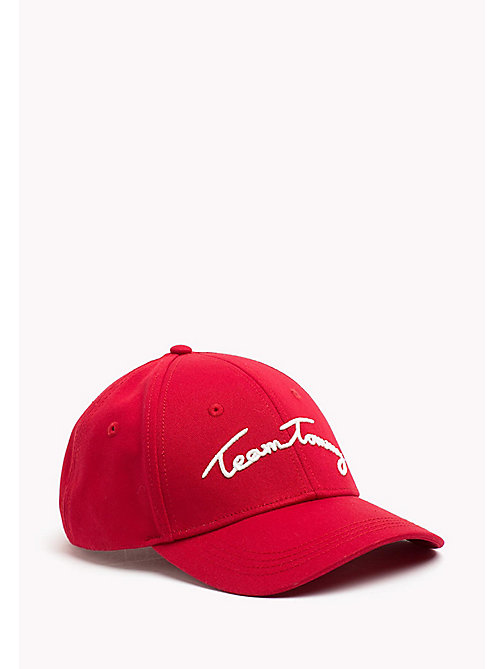 TOMMY HILFIGER Team Tommy Cotton Cap - CRIMSON - TOMMY HILFIGER NEW IN - main image