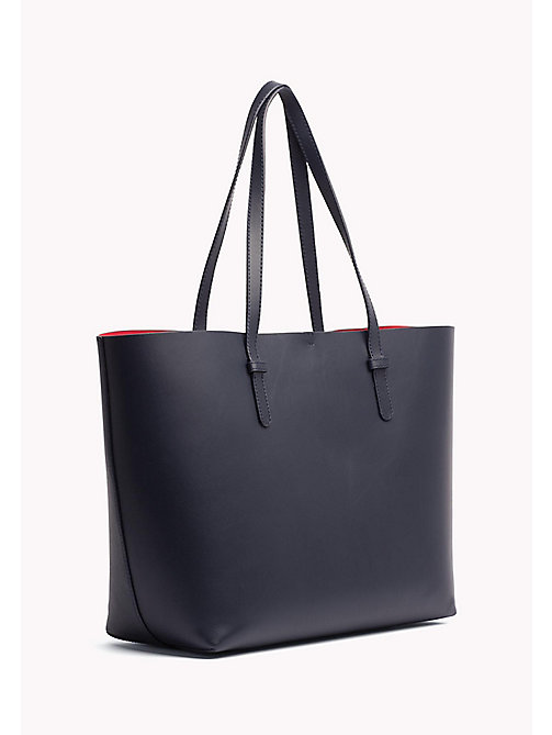 TOMMY HILFIGER Tote-Bag aus Leder - TOMMY NAVY/ TOMMY RED - TOMMY HILFIGER NEW IN - main image 1