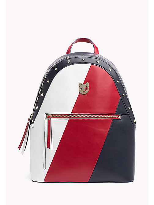 TOMMY HILFIGER Icon Leather Backpack - CORPORATE MIX - TOMMY HILFIGER Backpacks - main image
