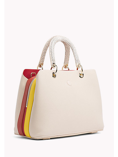 TOMMY HILFIGER Satchel Handbag - TAPIOCA MIX - TOMMY HILFIGER Occasion wear - detail image 1