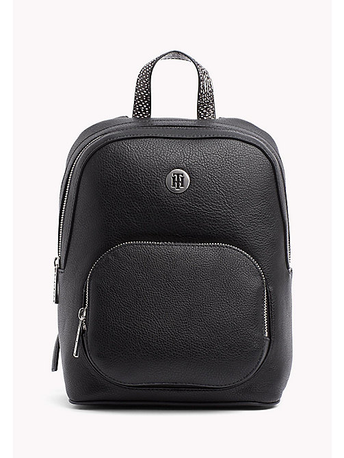 TOMMY HILFIGER Monogram Logo Classic Backpack - BLACK - TOMMY HILFIGER Backpacks - main image