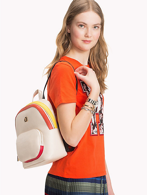 TOMMY HILFIGER Monogram Logo Classic Backpack - TAPIOCA MIX - TOMMY HILFIGER Backpacks - detail image 1