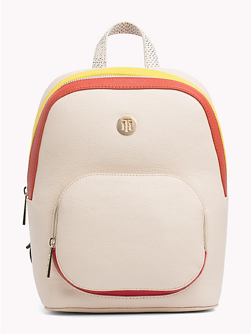 TOMMY HILFIGER Monogram Logo Classic Backpack - TAPIOCA MIX - TOMMY HILFIGER VACATION FOR HER - main image