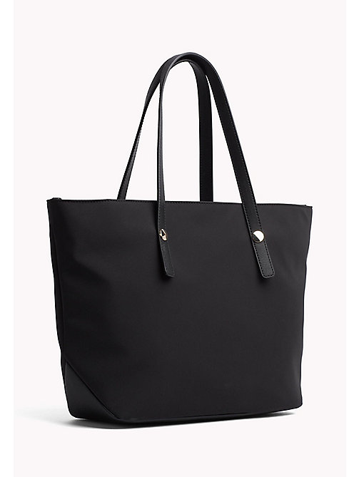TOMMY HILFIGER Medium Tote with Coin Purse - BLACK - TOMMY HILFIGER Tote Bags - detail image 1