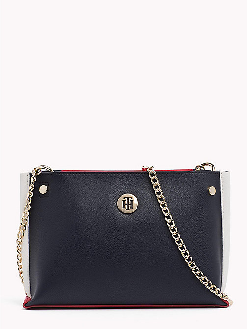 TOMMY HILFIGER Crossbodytas met ketting - TOMMY NAVY -  Colour-block collectie - main image