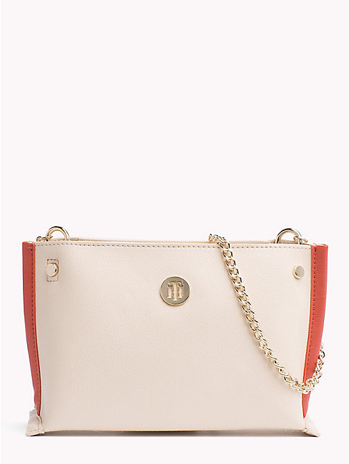 TOMMY HILFIGER Crossbodytas met ketting - TAPIOCA -  Colour-block collectie - main image