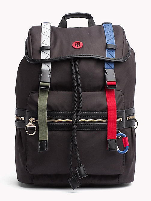 TOMMY HILFIGER Explorer Adjustable Backpack - BLACK - TOMMY HILFIGER VACATION FOR HER - main image
