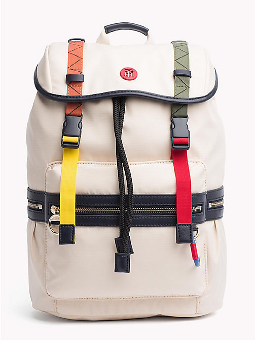 TOMMY HILFIGER Explorer Adjustable Backpack - TAPIOCA - TOMMY HILFIGER VACATION FOR HER - main image
