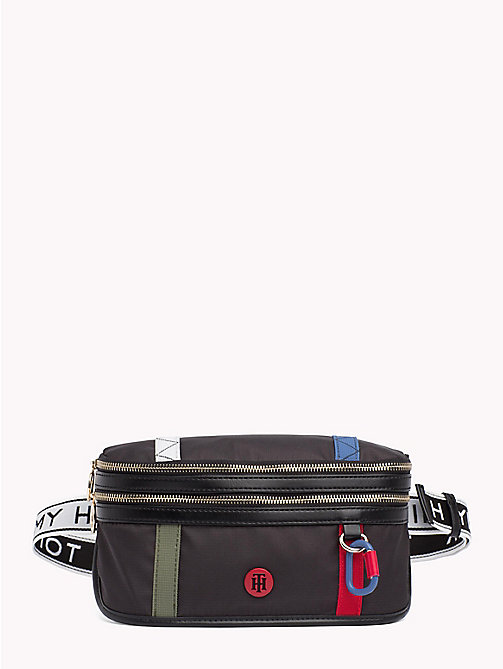 TOMMY HILFIGER Logo Strap Bum Bag - BLACK - TOMMY HILFIGER Crossbody Bags - main image