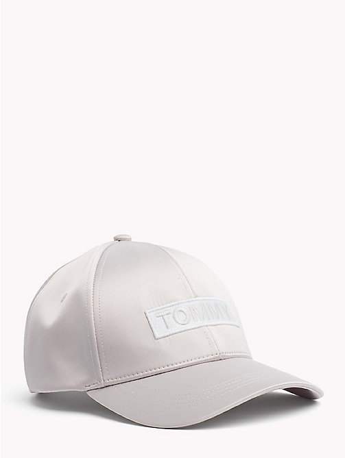 TOMMY JEANS Satin Logo Baseball Cap - PUMICE STONE - TOMMY JEANS Festival Season - main image