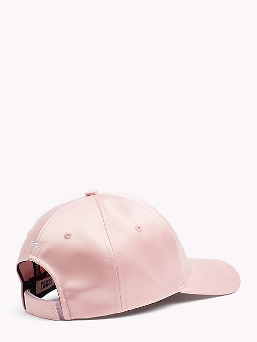 TOMMY JEANS Satin Logo Baseball Cap - MAHOGANY ROSE - TOMMY JEANS Bags & Accessories - detail image 1