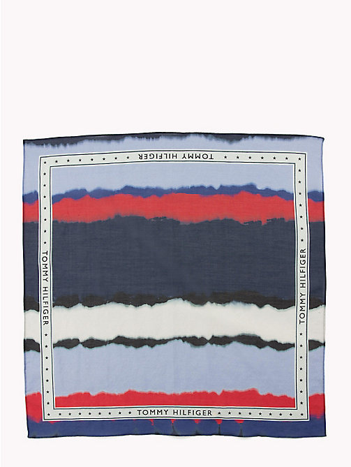 TOMMY HILFIGER Watercolour Stripe Bandana - CORPORATE DEGRADE - TOMMY HILFIGER Scarves - detail image 1
