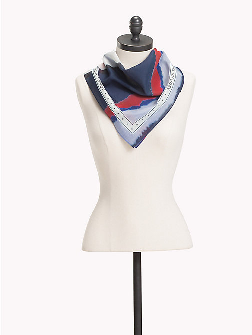 TOMMY HILFIGER Watercolour Stripe Bandana - CORPORATE DEGRADE - TOMMY HILFIGER Scarves - main image