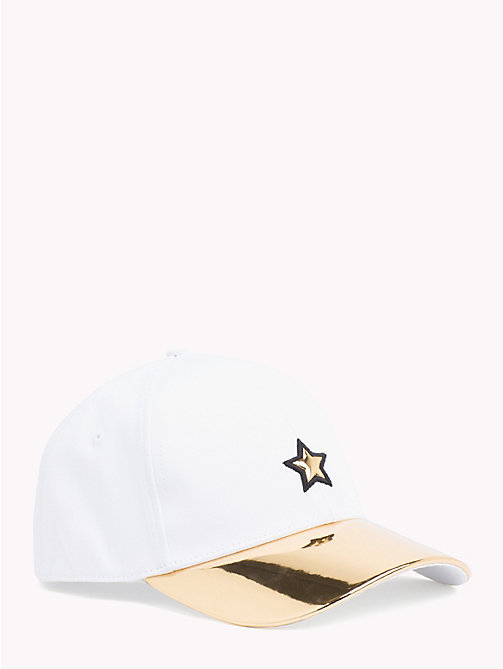 TOMMY HILFIGER Star Embroidery Cotton Cap - WHISPER WHITE - TOMMY HILFIGER VACATION FOR HER - main image