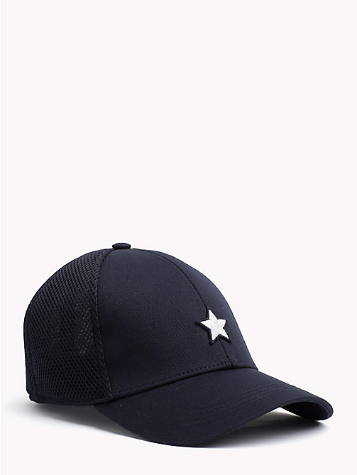 TOMMY HILFIGER Star Embroidery Cotton Cap - TOMMY NAVY - TOMMY HILFIGER Hats - main image