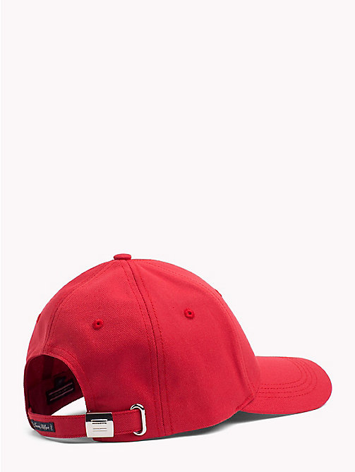 TOMMY HILFIGER Classic Baseball Cap - POMPEIAN RED - TOMMY HILFIGER VACATION FOR HER - detail image 1