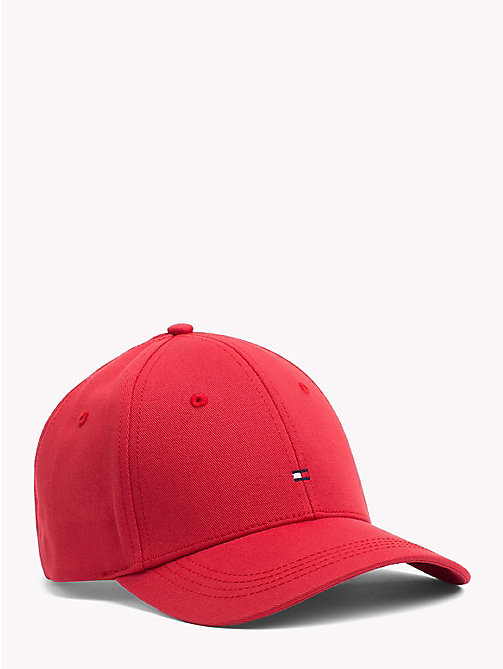 TOMMY HILFIGER Classic Baseball Cap - POMPEIAN RED - TOMMY HILFIGER VACATION FOR HER - main image
