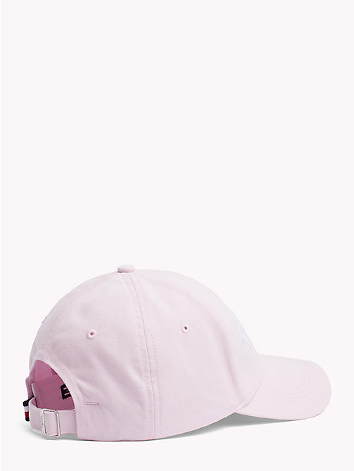 TOMMY HILFIGER Logo Embroidery Cotton Cap - SILVER PEONY - TOMMY HILFIGER VACATION FOR HER - detail image 1