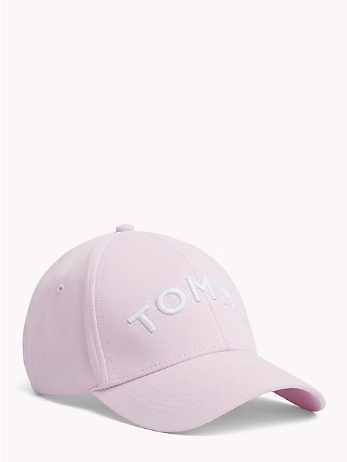 TOMMY HILFIGER Logo Embroidery Cotton Cap - SILVER PEONY - TOMMY HILFIGER VACATION FOR HER - main image