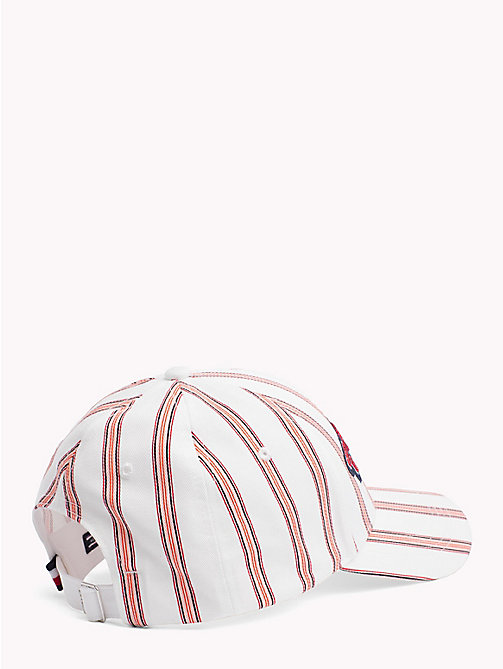 TOMMY HILFIGER Logo Embroidery Cotton Cap - STRIPE MIX - TOMMY HILFIGER VACATION FOR HER - detail image 1