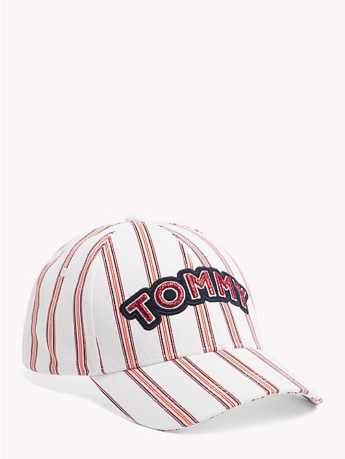 TOMMY HILFIGER TOMMY PATCH CAP - STRIPE MIX - TOMMY HILFIGER Головные Уборы - главное изображение