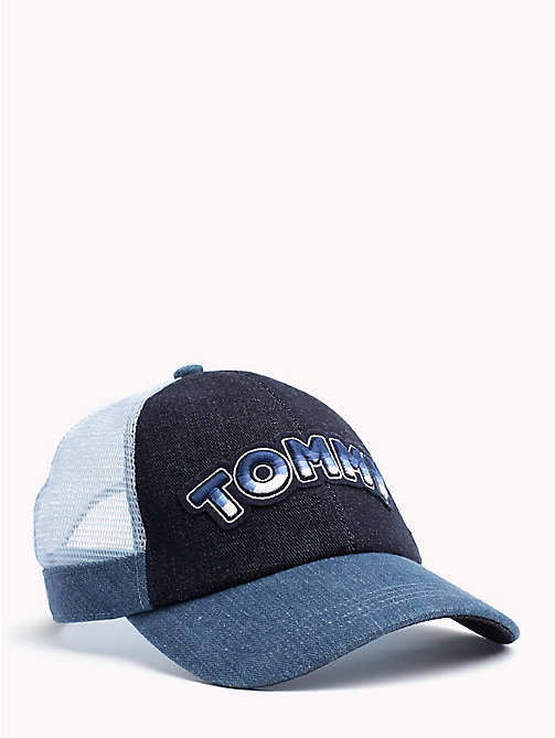 TOMMY HILFIGER Logo Embroidery Cotton Cap - DENIM MIX - TOMMY HILFIGER Hats - main image