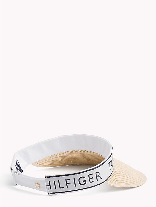 TOMMY HILFIGER Tommy Logo Visor - NATURAL - TOMMY HILFIGER VACATION FOR HER - detail image 1
