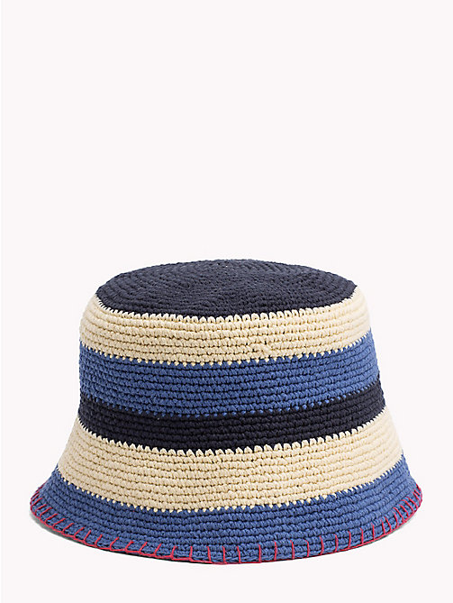 TOMMY HILFIGER Stripe Crochet Hat - CORPORATE MIX - TOMMY HILFIGER Hats - detail image 1
