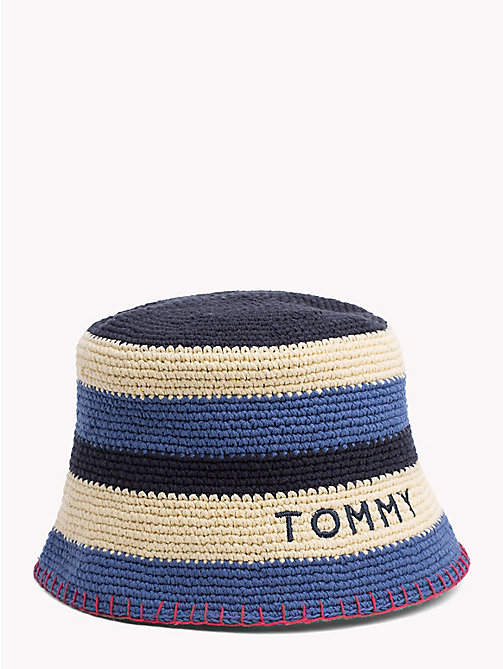 TOMMY HILFIGER Stripe Crochet Hat - CORPORATE MIX - TOMMY HILFIGER Hats - main image