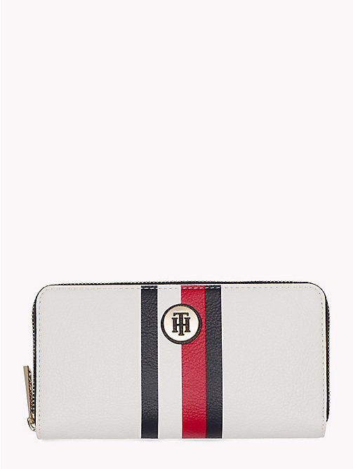 TOMMY HILFIGER Monogram Zip-Up Wallet - CORPORATE - TOMMY HILFIGER Accessories for the beach - main image