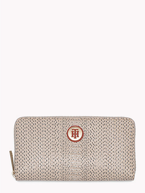 TOMMY HILFIGER Snake Print Zip Wallet - TAPIOCA SNAKE - TOMMY HILFIGER VACATION FOR HER - main image
