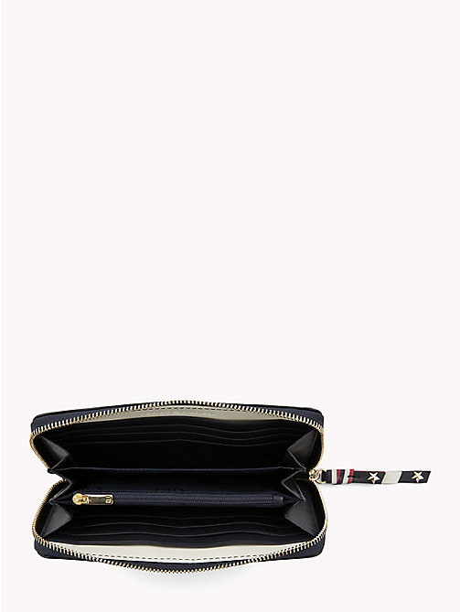TOMMY HILFIGER Contrast Zip Leather Wallet - TOMMY NAVY - TOMMY HILFIGER Wallets - detail image 1