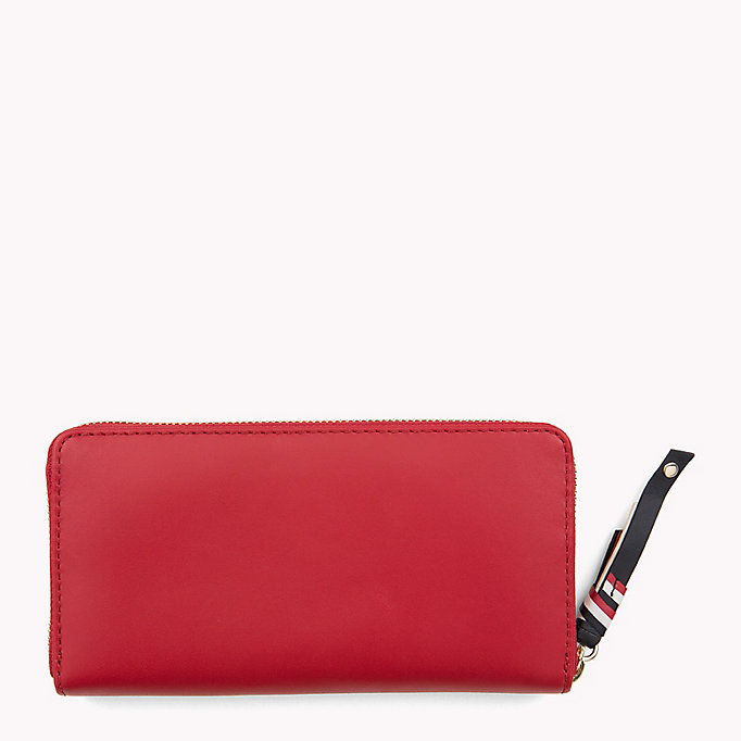 TOMMY HILFIGER Contrast Zip Leather Wallet - TOMMY NAVY - TOMMY HILFIGER Women - detail image 1