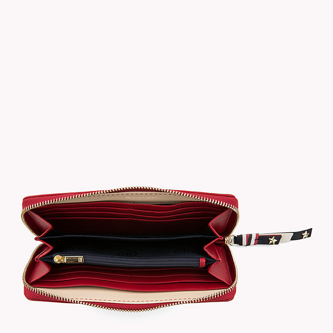 TOMMY HILFIGER Contrast Zip Leather Wallet - TOMMY NAVY - TOMMY HILFIGER Women - detail image 2