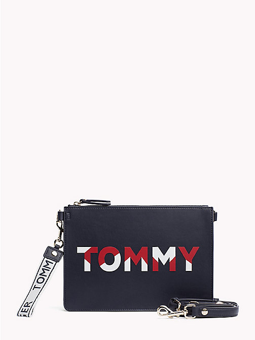 TOMMY HILFIGER Iconic Logo Zip Pouch - CORPORATE MIX - TOMMY HILFIGER Clutch Bags - main image