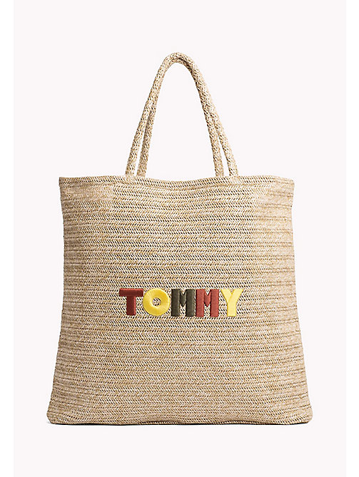TOMMY HILFIGER Raffia Explorer Tote Bag - NATURAL - TOMMY HILFIGER VACATION FOR HER - main image