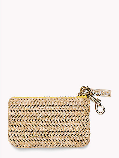 TOMMY HILFIGER Embroidered Raffia Coin Purse - RAFFIA - TOMMY HILFIGER Wallets & Keyrings - detail image 1