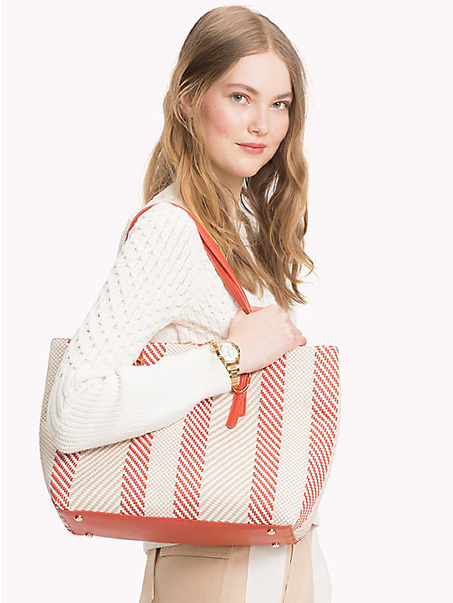 TOMMY HILFIGER Woven Buckle Detail Tote Bag - WOVEN - TOMMY HILFIGER Bags & Accessories - detail image 1