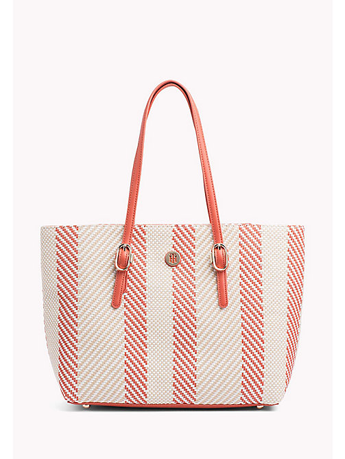 TOMMY HILFIGER Woven Buckle Detail Tote Bag - WOVEN - TOMMY HILFIGER VACATION FOR HER - main image
