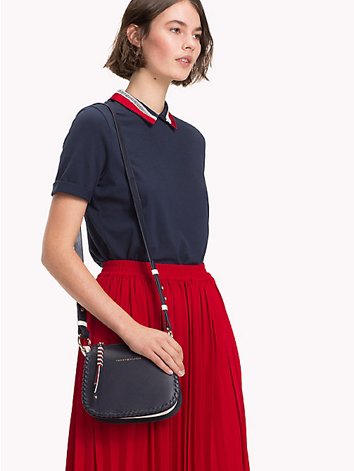 TOMMY HILFIGER Leather Stitch Cross-Body Bag - TOMMY NAVY - TOMMY HILFIGER Accessories for the beach - detail image 1