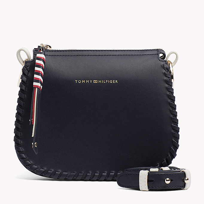 TOMMY HILFIGER Leather Stitch Cross-Body Bag - COGNAC - TOMMY HILFIGER Women - main image