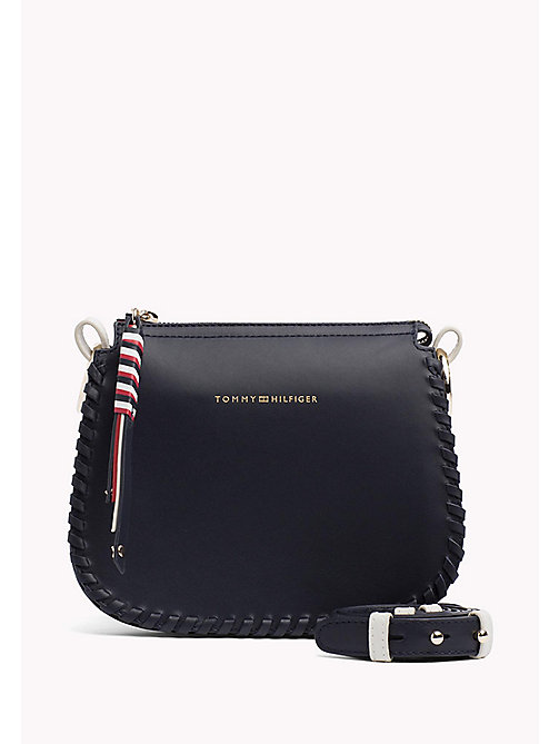 TOMMY HILFIGER Leather Stitch Cross-Body Bag - TOMMY NAVY - TOMMY HILFIGER Crossbody Bags - main image