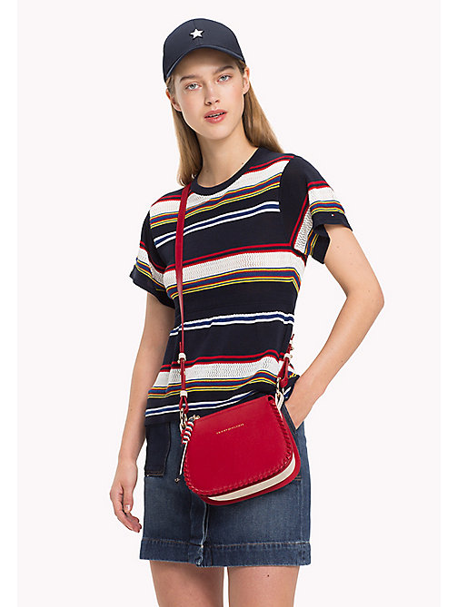 TOMMY HILFIGER Leather Stitch Cross-Body Bag - TOMMY RED - TOMMY HILFIGER Crossbody Bags - detail image 1