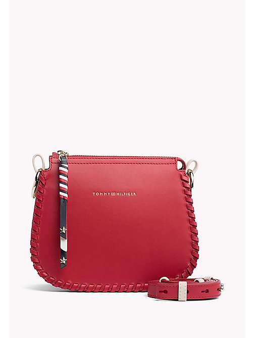 TOMMY HILFIGER Leather Stitch Cross-Body Bag - TOMMY RED - TOMMY HILFIGER Crossbody Bags - main image